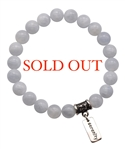 Celestite Bracelet TAKE TIME TO HEAL - zen jewelz