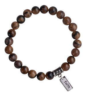 Chiastolite Bracelet HAVE FAITH - zen jewelz