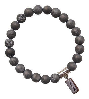 Drusy Quartz Bracelet MOTIVATE - zen jewelz