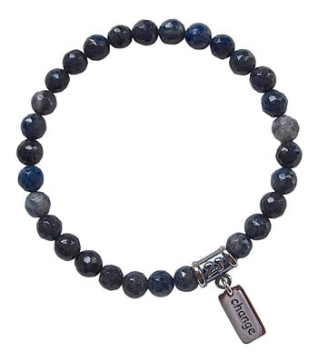 OPEN TO CHANGE - Dumortierite Healing Crystal Bracelet - zen jewelz