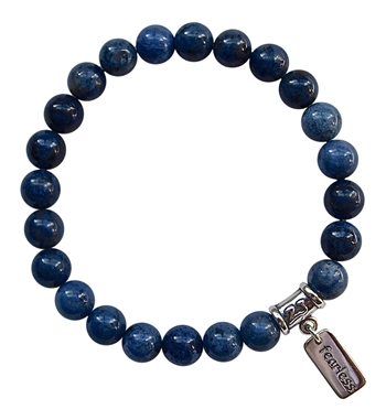 Dumortierite Bracelet STEP INTO YOUR POWER - zen jewelz