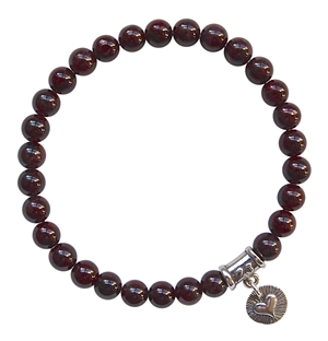 Red Garnet Healing Crystal Bracelet - zen jewelz