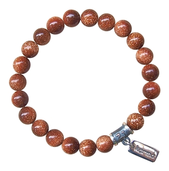 Goldstone Bracelet BE PROTECTED - zen jewelz