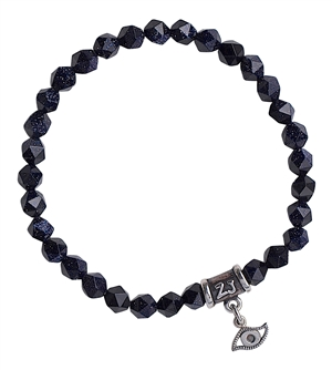 Blue Goldstone Bracelet WISH - zen jewelz