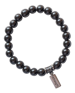 Hematite Bracelet STRENGTH - zen jewelz