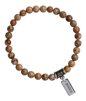 Picture Jasper Bracelet BE THE PEACE YOU SEEK - zen jewelz