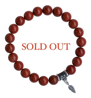 INSPIRATION - Red Poppy Jasper Healing Crystal Bracelet - zen jewelz