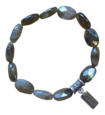 Labradorite Bracelet HAVE FAITH - zen jewelz