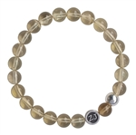 COUNT YOUR BLESSINGS - Lemon Quartz Healing Crystal Stretch Bracelet - zen jewelz