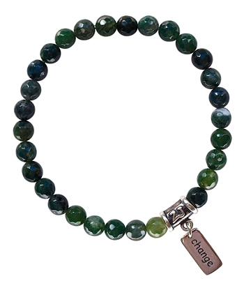 FRESH START - Moss Agate Healing Crystal Bracelet - zen jewelz