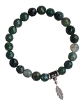 Moss Agate Bracelet WELCOME CHANGE - zen jewelz