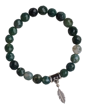 WELCOME CHANGE - Moss Agate Healing Crystal Bracelet - zen jewelz