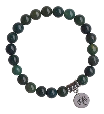 Moss Agate Bracelet ALL IS WELL - zen jewelz