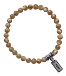 BE BLISSFUL - Mother of Pearl Healing Crystal Bracelet - zen jewelz