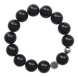 REDUCE STRESS - Onyx Healing Crystal Stretch Bracelet - zen jewelz