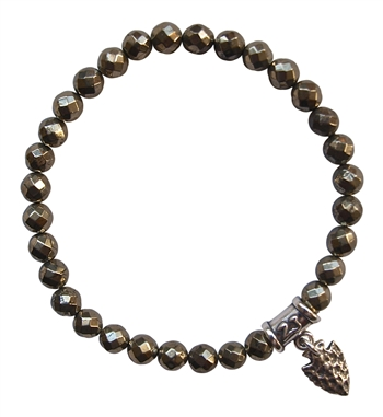 Iron Pyrite Bracelet BE FEARLESS - zen jewelz