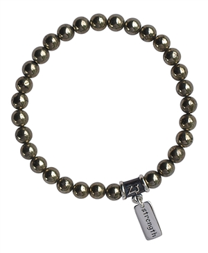 Iron Pyrite Bracelet SHIELD OF PROTECTION - zen jewelz