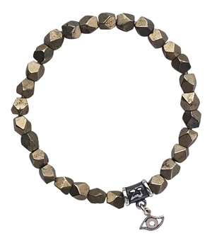 Iron Pyrite Bracelet PROTECT ME - zen jewelz
