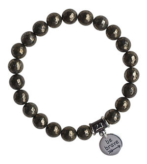 Iron Pyrite Bracelet BE BRAVE - zen jewelz
