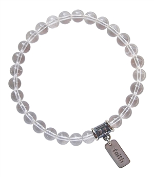 FIND YOUR DIRECTION - Quartz Healing Crystal Stretch Bracelet - zen jewelz