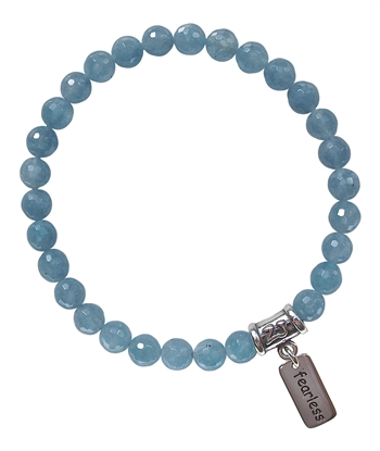 SELF EXPRESSION - Blue Quartz Healing Crystal Stretch Bracelet - zen jewelz