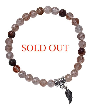 Cherry Quartz Bracelet OPEN HEART - zen jewelz