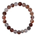LIVE, LOVE, LAUGH - Cherry Quartz Gemstone Bracelet - zen jewelz