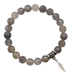 Grey Quartz Bracelet GIVE ME WISDOM - zen jewelz