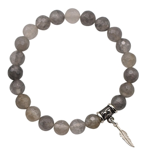 GIVE ME WISDOM - Grey Quartz Healing Crystal Bracelet - zen jewelz