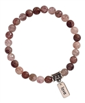 BLISS- Strawberry Quartz Healing Crystal Bracelet - zen jewelz