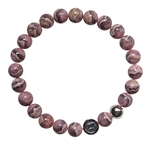 Rhodochrosite Bracelet BE POSITIVE - zen jewelz