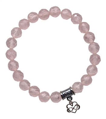 FEEL THE LOVE - Rose Quartz Healing Crystal Stretch Bracelet - zen jewelz