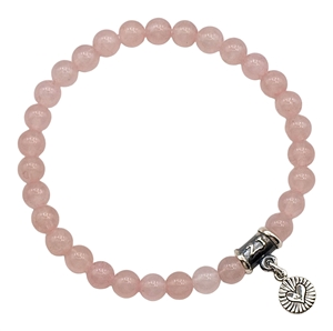 Rose Quartz Healing Crystal Stretch Bracelet - zen jewelz