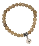 Golden Rutilated Quartz Bracelet BREATHE DEEPLY - zen jewelz