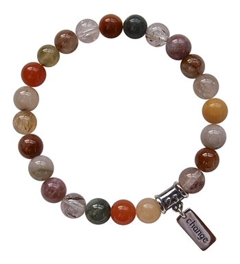 Rutilated Quartz Bracelet LETTING GO - zen jewelz