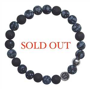 Snowflake Obsidian Bracelet SUCCESS - zen jewelz