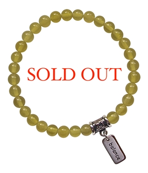 WISDOM - Serpentine Healing Crystal Stretch Bracelet - zen jewelz