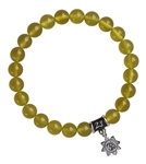Serpentine Healing Crystal Stretch Bracelet - zen jewelz