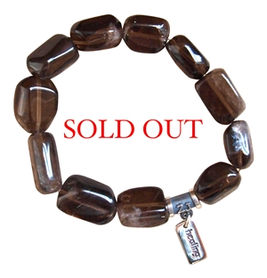 CHEMOTHERAPY/ RADIATION HEALING - Smokey Quartz Healing Crystal Bracelet - zen jewelz