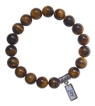 CONQUER YOUR FEAR - Tiger Eye Healing Crystal Stretch Bracelet - zen jewelz
