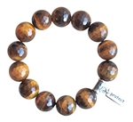 BE COMMITTED - Tiger Eye Healing Crystal Stretch Bracelet - zen jewelz