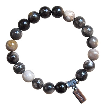 BE TRUE - Grey Tiger Eye Healing Crystal Bracelet - zen jewelz