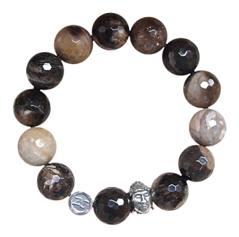 SELF DISCOVERY - Grey Tiger Eye Healing Crystal Stretch Bracelet - zen jewelz