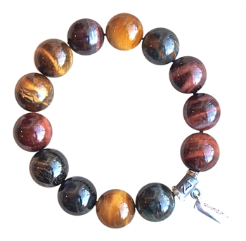 BE FEARLESS - Multi Tiger Eye Healing Crystal Bracelet - zen jewelz