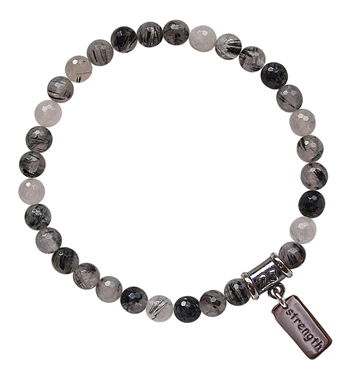 INNER STRENGTH - Tourmalinated Quartz Healing Crystal Bracelet - zen jewelz