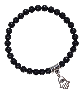 Black Tourmaline Bracelet GOOD JUJU - zen jewelz