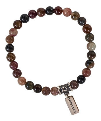 Watermelon Tourmaline Bracelet I AM BLESSED - zen jewelz