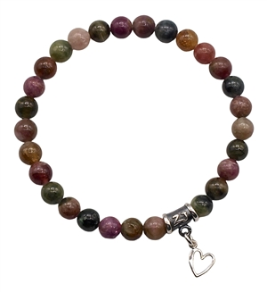 Watermelon Tourmaline Bracelet SWEET INTENTIONS - zen jewelz