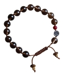 BE STRONG - Smokey Quartz Healing Crystal Bracelet - zen jewelz