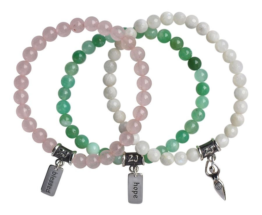 fine bracelet products and faceted amethyst amazonite communication healing bracelets